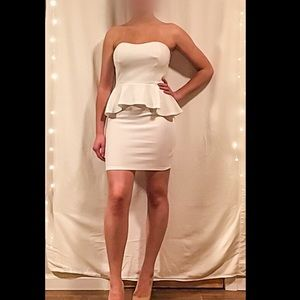 Charlotte Russe White mini party dress